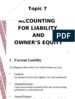 Accg for Liability & OE
