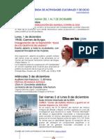 Agenda de Actividades Culturales y de Ocio Para El Mes de Diciembre en Baeza