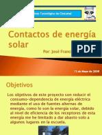 Contactos de energía solar