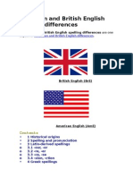 American and British English Spelling Differences