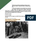 Lembrando Os Horrores de Uma Guerra de Guerrilhas