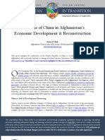 Afghanistan- China and Afghanistan-Economic Cooperation