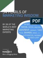 54 Pearls of Marketing Wisdom