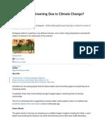 Sahara Desert Greening Due to Climate Change
