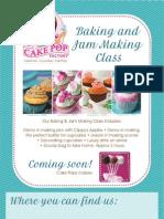 Flyer for a Baking Class
