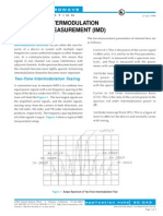 Theory of Inter Modulation Distortion Measurement