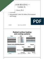 Floor Heating - Prof Olesen Lecture-2c-Dimensioning