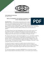MPAA Press Release Dec 16 2011