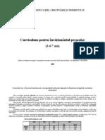 Curriculum Prescolar