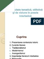 Diversitate tematică, stilistică şi de viziune în poezia interbelică