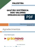 Gestão sistêmica dos valores organizacionais