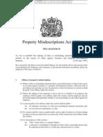 Property Misdescriptions Act 1991