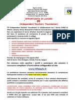 Selezioni ITF Independent Teacher's Foundation 2012