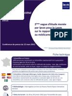 Observatoire sociétal du médicament 2012