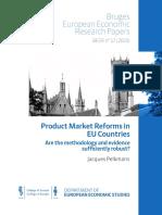 Product Market reforms in EU countries (Eng)/ Las reformas del mercado de productos en los países de la UE (Ing)/ Produktu merkatuen erreforma EBko herrialdeetan (Ing)