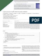 Kovalchuk Capillary Pressure Studies Under Low Gravity Conditions 2010