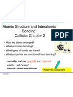 Week-1 Atomic Structure and Inter Atomic Bonding