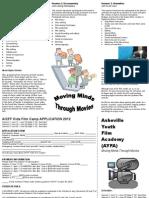 AICFF Kids Film Camp 2012 Brochure
