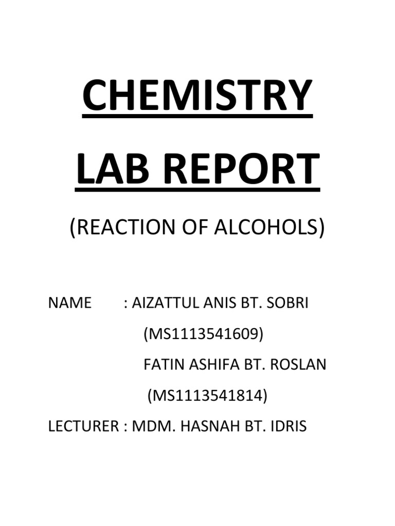 writing a conclusion for chemistry lab report Laboratory report guidelines: fall 2011 general chemistry lab reports are an  essential  how to write a lab report conclusion the purpose of writing a lab.