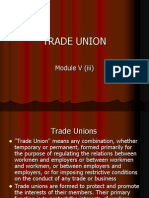 TRADE UNION and Industrial Dispute