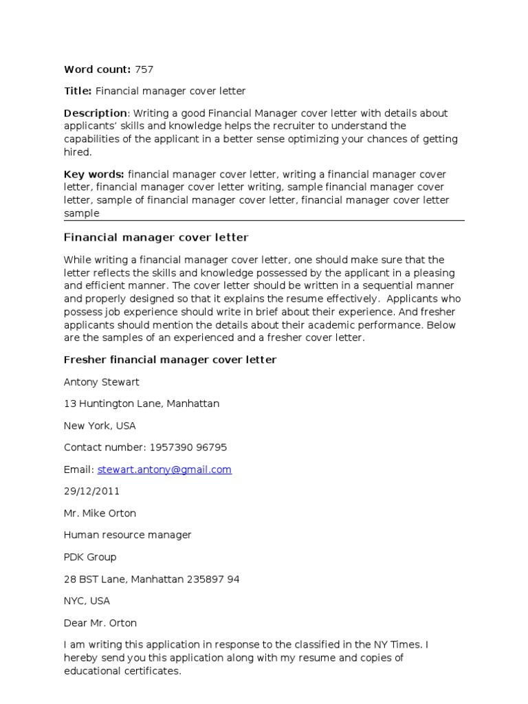 Financial manager cover letter corrected rsum master of financial manager cover letter corrected rsum master of business administration madrichimfo Image collections