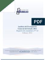 Analisis Del Presupuesto Gral. 2011