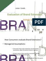 Brand Extension Contd_Ashish