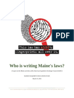 Who is Writing Maine's Laws?
