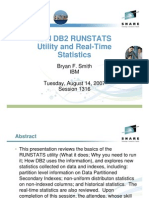 IBM DB2 RUNSTATS Utility and Real-Time Statistics