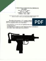 Machinist Drawings for SMG Frames - MAC10, MAC11, Cobray M11-9, CobrayM12