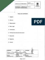 ADT-PR-335-009 Ventilacion de Alta Frecuencia