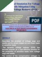 Dynamic Voltage Restorer (DVR) PPT