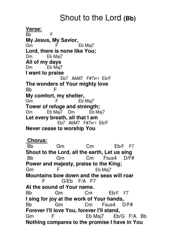 Shout to the Lord: Chorus