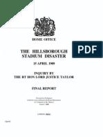 Hillsborough Stadium Disaster Inquiry report (Taylor report)