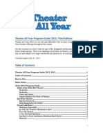 Theater All Year ProgramGuide 2012-2013 3rd edition