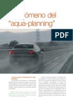 Fenómeno del aqua-planning en carretera