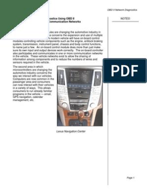 OBD II Network Diagnostics State | Resistor | Computer Network