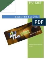 PAF-KIET Job Fair 2012 Organizations Booklet