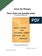 Vinicius de Moraes - (Para Viver Um Grande Amor)-.-WwW.livrosGratis.net-.
