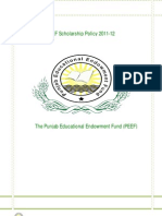 Scholarship Policy 2011-12