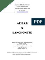 Plano de Negócios - Estudo de Caso Bar e Lanchonete