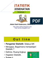STATISTIK KESHTN- Slide I - Pengantar Statistik