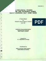 Pleistocene Palynology, North Louisiana