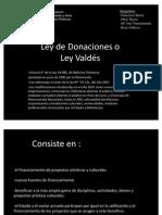 Ley de Donaciones
