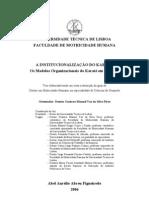 A Institucionalização do Karaté