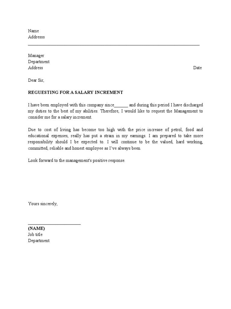 Offer letter Increment Letter SamplePriti