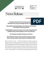 DIFF 2012 Full Schedule Press Release