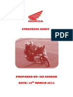 Honda Motorcycles- A Strategic Perspective- By Sai Sankar