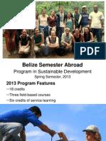 Belize Spring 2013