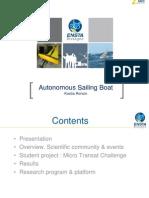 Kostia Roncin - Autonomous Sailing Boat